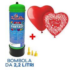 BOMBOLA GAS ELIO da 30 / 35 + PALLONCINI CUORE in OMAGGIO San Valentino Amore