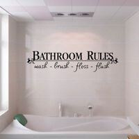 DIY Bathroom Rules Art Wall Stickers Vinyl Removable Decals Mural Home Decor