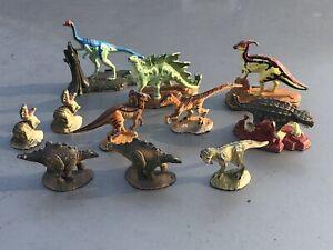Vintage 1997 Jurassic Park Metal Diecast Dinosaurs Lot of 11 UCS and Amblin Trex