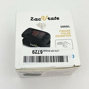 Zacurate 500DL Pro Series Black Finger Pulse Oximeter Oxygen Saturation O2 Meter