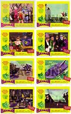 BATMAN Lobby Cards (1966) Complete Set of 8