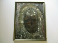 HEDVA AHARONI PAINTING ABSTRACT EXPRESSIONISM VINTAGE MODERNISM PORTRAIT RARE
