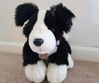 KEEL TOYS MERRY BORDER COLLIE BLACK & WHITE PUPPY SOFT DOG PLUSH SOFT HUG TOY