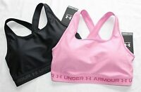 2 New UNDER ARMOUR Crossback 2.0 Women's PADDED Athletic Sports Bra Lot LARGE