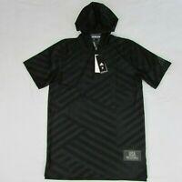 Adidas USA Volleyball SS Short Sleeve Black Hoodie DP4318 Men's Medium $70