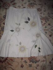 Vgc Next ladies size Uk size 12 Embroidered 100% cotton Skirt 4 Christmas party