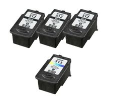 Reman Ink Cartridge for Canon 3x PG 512 Black 1x CL 513 Color for PIXMA MP240