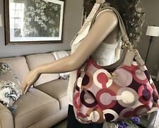 NEW COACH MADISON MAGGIE OP ART LEATHER SATCHEL BAG HOBO TOTE RARE 18764 $348