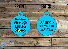Personalized Dog Cat ID Tags for Funny Pets Daddy's Favorite A****** Double Side