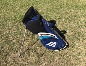 MIZUNO Golf Men's Frame Walker Caddy Bag Tour Blue White - Free Shipping