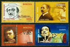 2004 DALI,Salvador DALI,Rimbaud,poet,Dr.Babes,Macedonski,writer,Romania,5844,MNH