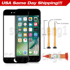 "Black Front Outer Touch Screen Glass Lens Replacement For iPhone 7 Plus 5.5"" Kit"