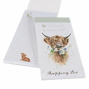 Wrendale Designs Illustrated Daisy Coo Magnetic Shopping List Pad 21x10cm