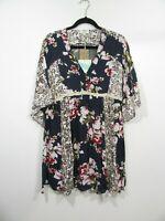 Umgee Boho Blue Floral Boho Dress Size L