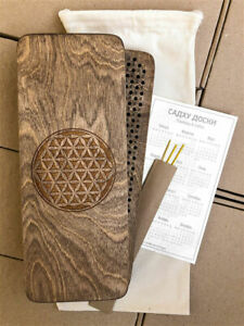 "Sadhu Board ""Flower of Life"", 10mm for yoga brown / Sadhu doski"