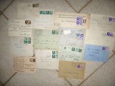 Y261-LOTTO DI 14 LETTERE/CART.CON FRANC.PROPAGANDA DI GUERRA