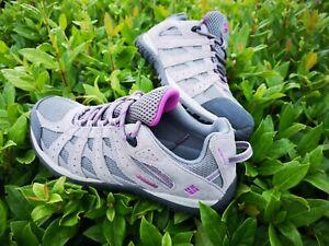 Columbia Womens Redcrest Waterproof Hiking nordic Walking Shoes UK 5 Grey/pink