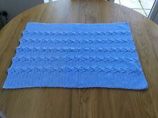 New Hand crochet Soft Blue  Baby Blanket