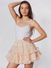 American Apparel Ballet Pink Peach Nude Ruffled Reversible Petticoat Tutu OS