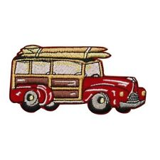 ID 1933 Surf Wagon Patch Beach Cruiser Car Embroidered Iron On Applique