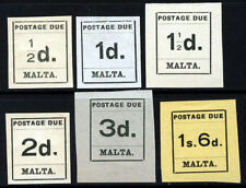 Colony Postage Due Maltese Stamps (pre-1964)