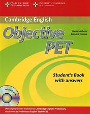 Objective PET Student's Book with answers with CD-ROM New Paperback Book Louise