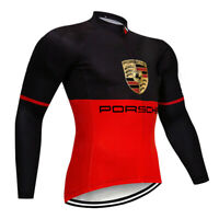 Cycling Jersey Jacket MTB Bike Motocross Tight Long Red Bicycle Shirt Team Top