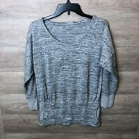 Athleta Womens Small Gray Batwing and Robin Scoop Neck Sweatshirt NWOT