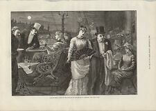 1881 HOUSE OF COMMONS A MIDSUMMER NIGHT ON THE TERRACE