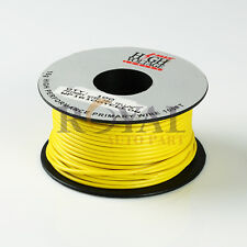 100Ft YELLOW 16 GAUGE AWG PRIMARY WIRE STRANDED COPPER POWER REMOTE 12V CAR