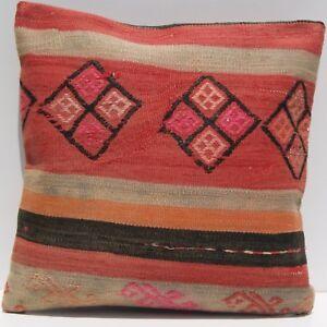 """18""""X18"""" rug cushion Kurdish kilim rug pillow square wool handmade kilim area rug"""