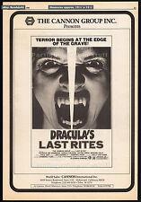 DRACULA'S LAST RITES__Original 1980 Cannes Trade AD / poster__horror movie promo