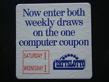 TATTSLOTTO NOW ENTER BOTH WEEKLY DRAWS ON THE ONE COMPUTER COUPON COASTER