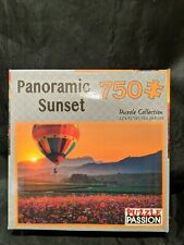 "Puzzle Passion Panoramic Sunset 750 Piece Puzzle Size 22"" x 15"" NEW"