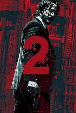 JOHN WICK CHAPTER 2 Keanu Reeves Movie Art Silk Poster 24x36inch