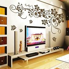 Large Butterfly Flower Mural Art Wall Stickers Vinyl Decal Home Room Decor New