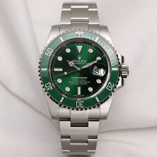 "MAI INDOSSATO FULL-Set ROLEX SUBMARINER 116610LV ""HULK"" in Acciaio Inox Verde Dial &."