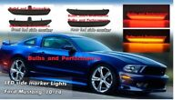 Smoked LED Side Marker Front & Rear Set for 2010 - 2014 Ford Mustang
