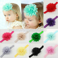 Flower Bows Lace Headbands Headwear Hair Band for Baby Girls Infants Toddler NEW