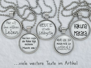 Spruchkette by Perletta 15 Texte Lebensweisheiten Zitate Motivation Spass - H
