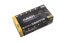 SAS Safety 66518 Raven Powder-Free Black Nitrile 6 Mil Gloves, Large, 3 Pack