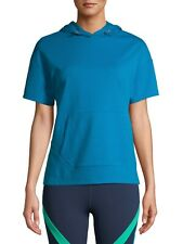 Avia - 3XL - Women's Active Performance - Short Sleeve Hoodie - Calypso Blue
