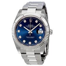 Rolex Datejust 41 Blue Diamond Dial Automatic Mens Watch 126334BLDO