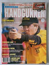 HANDGUNNER FIRE ARMS AMMO WEAPONS RIFLES MAGAZINE 9MM 45 1987 NOVEMBER DECEMBER