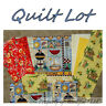 BonEful Fabric COTTON SCRAP Cloth QUILT LOT Beach Picnic Table Yellow Red Check
