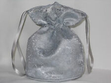 Silver lace and silver satin dolly bag for bridesmaids / evening wear / prom