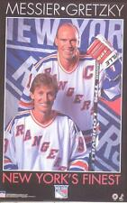 1996 NYs Finest Wayne Gretzky Mark Messier New York Rangers Starline Poster OOP
