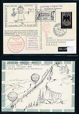 62040) Ballonpost FDA Dolder Schlieren - APB  Liechtenstein 1.9.56, Inland