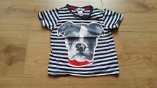 H&M ♡ 74 T-Shirt Shirt gestreift Hund