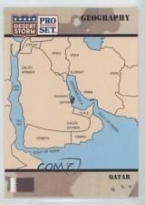 1991 Pro Set Desert Storm #48 Qatar Non-Sports Card 3a3